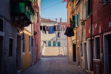 Linen in Venice streets