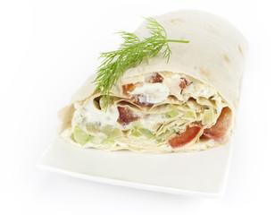 rolled sandwich