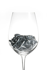 chain in a glass