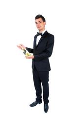Isolated Elegant man