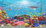Fototapete Schranke - Meer - Meeressäuger
