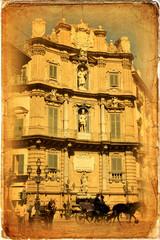 Piazza Quattro Canti, Palermo, Sicilia, Italia