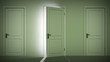 Doors opening and closing looped animation. Alpha mask. HD 1080.