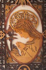 madonna wooden handmade