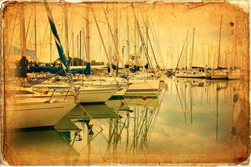 Sailing boats, harbor, sea
