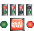 vector traffic-light for people