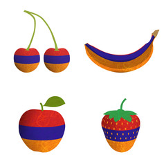 Flag fruit recycled paper