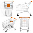 A set of shopping carts