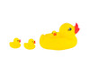 Yellow rubber duck with ducklings