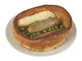 Sausage and Mash with Yorkshire Pudding