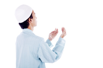 Muslim man worshiping