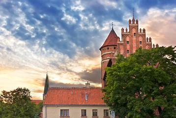 Sights of Poland.  Gothic castle in Olsztyn