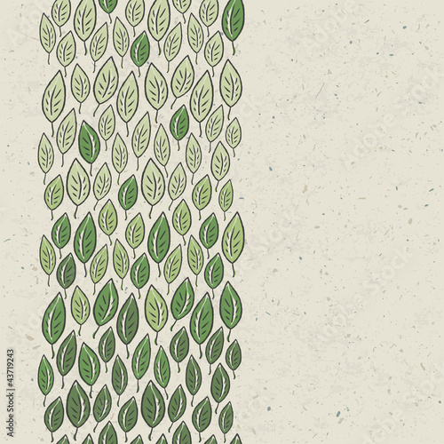 Green leaves background. Vector, EPS10