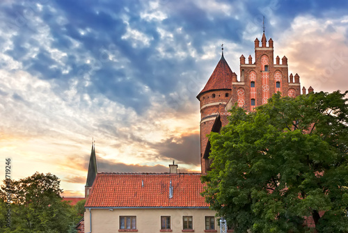 Sights of Poland.  Gothic castle in Olsztyn