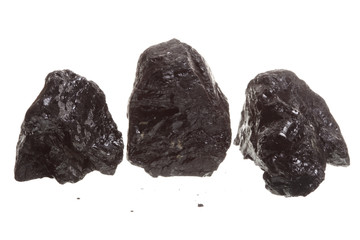 piece of coal isolated on white