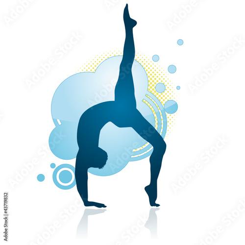 Gymnast making a figure