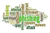Phishing concept in tag cloud poster