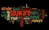 Spyware concept in tag cloud poster
