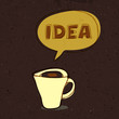 Coffee cup of idea. Concept illustration, vector, EPS10