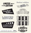 Vector Set: Limited Edition Labels and Headers
