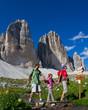 Family  adventure, Tre Cime di Lavaredo  - Dolomite - Italy