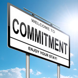 Commitment concept. poster