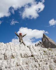 Girl on  trek  - Dolomite - Italy