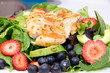 Grilled chicken with lettuce and fruit