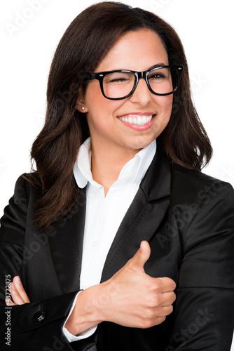 portrait einer erfolgreichen geschäftsfrau