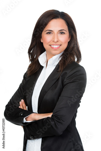 glückliche businessfrau