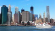 Lower Manhattan Seaport and Financial District in New York