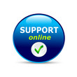 "Button ""SUPPORT online"" Kundensupport"