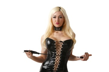 blond domina (white background)