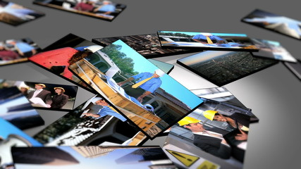 Montage 3D Images Architect Working on Site