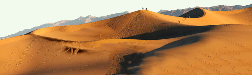Sand Dunes at Sunset at Death Valley National Park