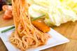 Spaghetti und Fischstäbchen