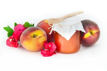 peach jam jar _vasetto di marmellata di pesche