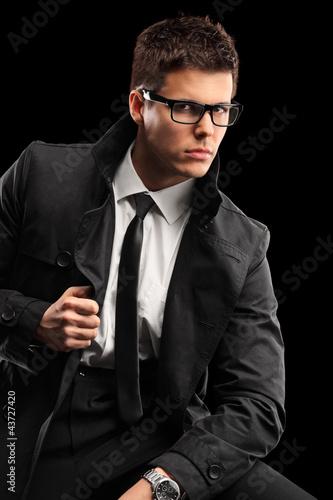 Young fashionable man