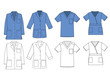 Medical shirt uniform vector template.