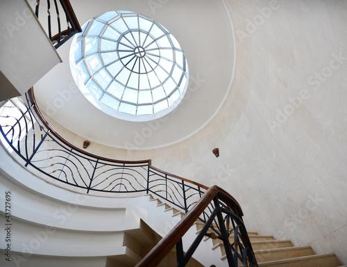 Foto op Plexiglas Trappen spiral stairway case