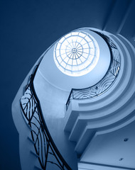 old spiral stairway case