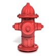fire hydrant 3d illustration isolated on white - front view