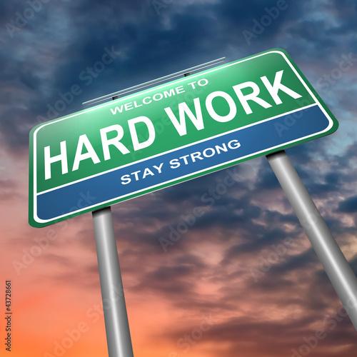 Hard work concept.
