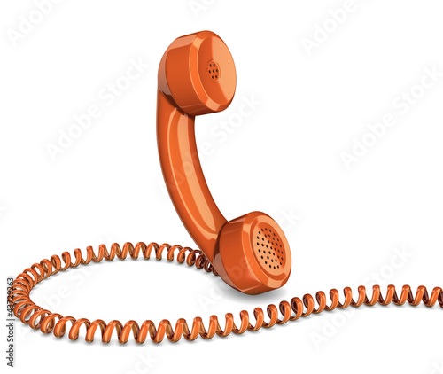 Telephone handset isolated