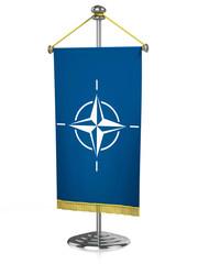 Nato 3d desk flag isolated
