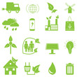 Green Ecology Icons. Eps10 vector.