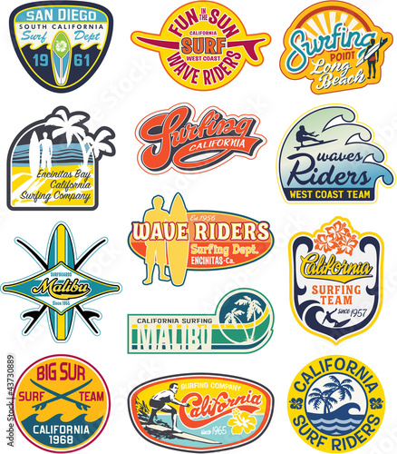 California vintage stickers collection