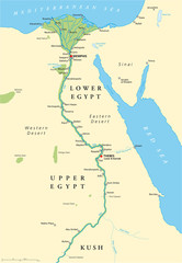 Ancient Egypt Map (Altes Ägypten Landkarte)