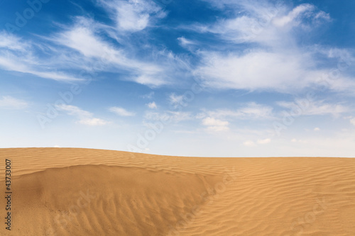 gobi desert with blue sky