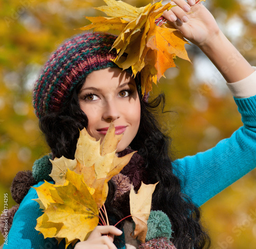 woman autumn